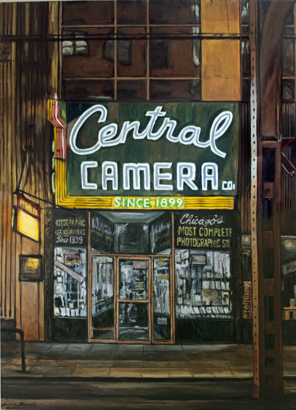 Central Camera at Night